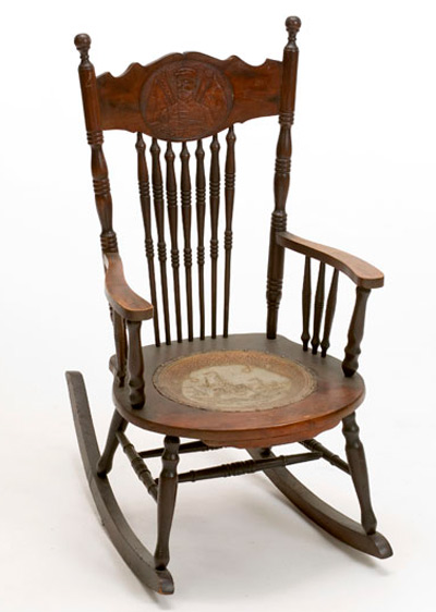 ... their pressback chairs and clocks. You can find others featuring  Admirals Dewey and Schley. The wicker seats are a nice touch but fragile to  sit in. - Victorain Edwardian Canadian Pressback Chairs