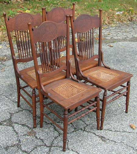 - Victorain Edwardian Canadian Pressback Chairs